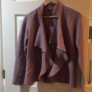 Eileen fisher lavender purple wool cardigan M